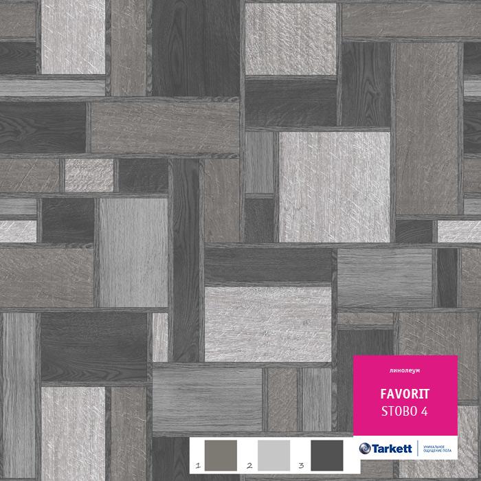 Линолеум Tarkett «Stobo 4» из коллекции Фаворит