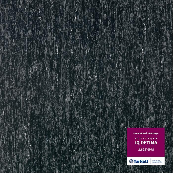 Линолеум Tarkett «Optima BLACK 0845» из коллекции IQ OPTIMA