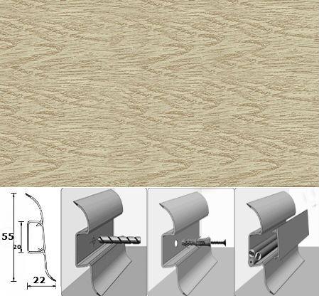 Плинтус напольный Идеал «218» из коллекции Комфорт