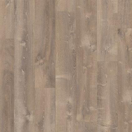 ПВХ плитка QUICK STEP «Дуб песчаный теплый коричневый PUCL40086» из коллекции Pulse Click