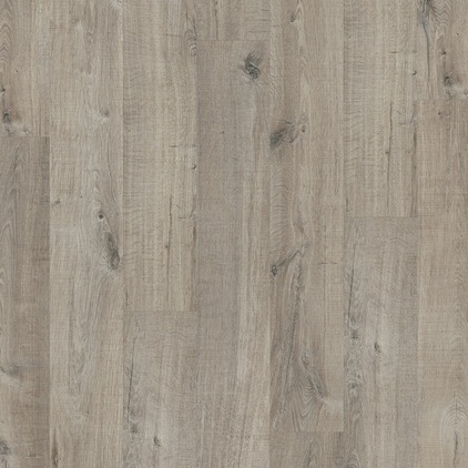 ПВХ плитка QUICK STEP «Дуб хлопковый темно-серый пиленый PUCL40106» из коллекции Pulse Click